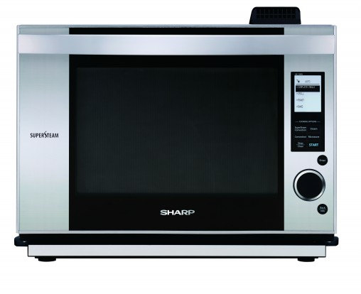 Sharp's countertop SuperSteam Oven with stainless steel fascia (AX1500JS, RRP $1,319.00) has six microwave power levels, as well as 42 pre-programmed auto cook menus, including auto frost and sensor reheat.