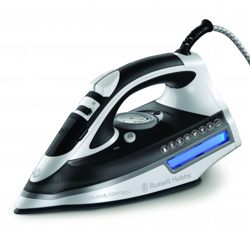 Powerful steam and a smooth ceramic soleplate: Russell Hobbs Colour Control Iron (19840AU, RRP $69.95)