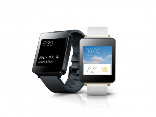 LG G Watch One of the first new smartwatches incorporating Google's new brand agnostic Android Wear OS, which has been designed specifically for wearables, the G Watch has a 36-hour battery life and is water and dust resistant.