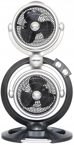 Convair Multi Directional Fan (CTF03): This fan can direct airflow in two different directions at the same time so there is no need to wait for the oscillation to have the air flow back to you as with regular fans. (RRP $99)