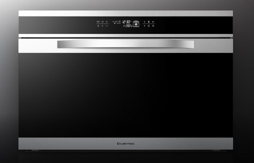 """Kleenmaid 90cm Black Krystal Oven (OMF9022, $3,599) This Italian-made oven includes the """"world exclusive"""" THERMAflow8 fan blade design that evenly distributes heated air through the oven's eight cooking zones."""