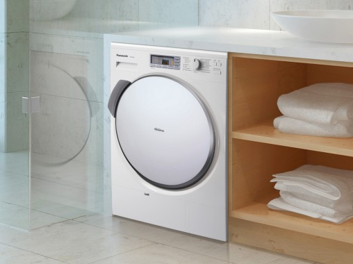 Clothes are gently dried at 45° Celsius, making it suitable for delicate items: Panasonic Heat Pump Dryer (NH-P70G2, RRP $2,499).