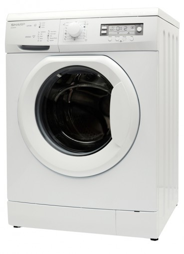Eco-Logic Half Load detection system for more efficient use of water and energy: Sharp Front Load Washer (ESV80HA, RRP $759).