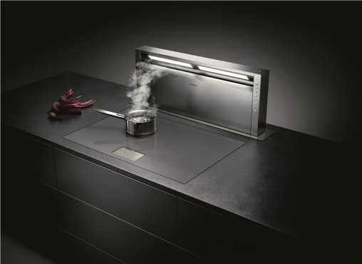 """Cooking is only part of the package. The premium customer wants complementary appliances such as ventilation to complete the kitchen. Our mindset is we want that package to be all Neff or Gaggenau appliances,"" said Frances Lynch, Gaggenau & Neff Brand Manager, Sampford IXL. Pictured: Gaggenau AL400 Telescopic Table ventilation system."