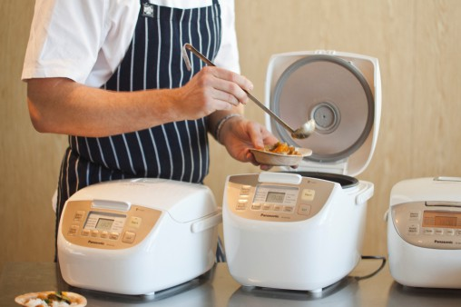 The Panasonic Rice Cooker (SR-DE183, RRP $159) is 'an intelligent rice cooker with a mind of its own' that adjusts its own temperature and cooking time. It also makes soup, stew, broth, cakes and porridge.
