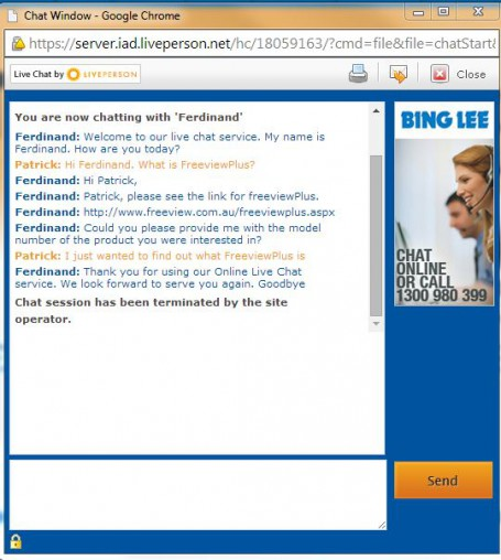 Bing Lee LivePerson.
