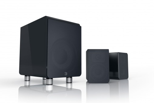 Duo: compact subwoofer & satellite speaker system, RRP $1,499