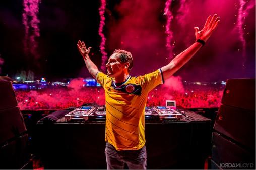 Dutch DJ and umlaut fan Tiësto.
