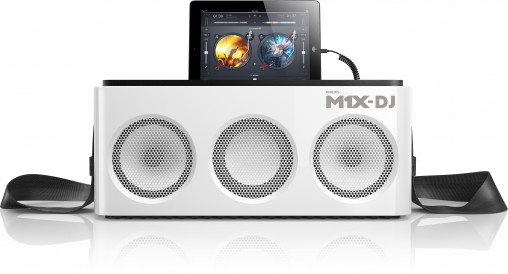 The M1X-DJ is optimised for new iPads but will also work with iPhones 5 and later.