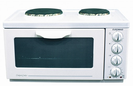 First Product: the original white Bench Top Cooker was Euromaid's first Australian release.