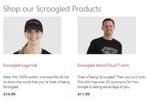 Microsoft's Scroogled store.
