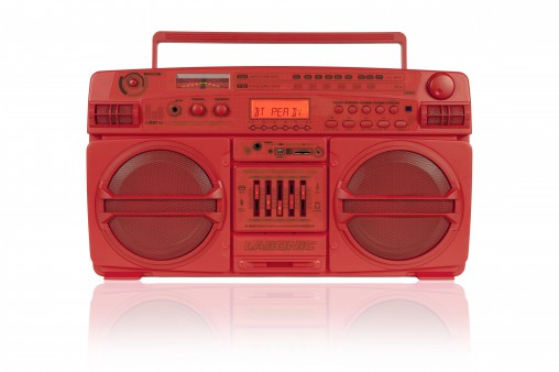 Lasonic boom box red