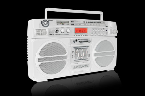 Lasonic Boom Box white