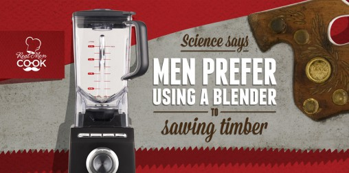 Men prefer blenders, according to Sunbeam's latest campaign.